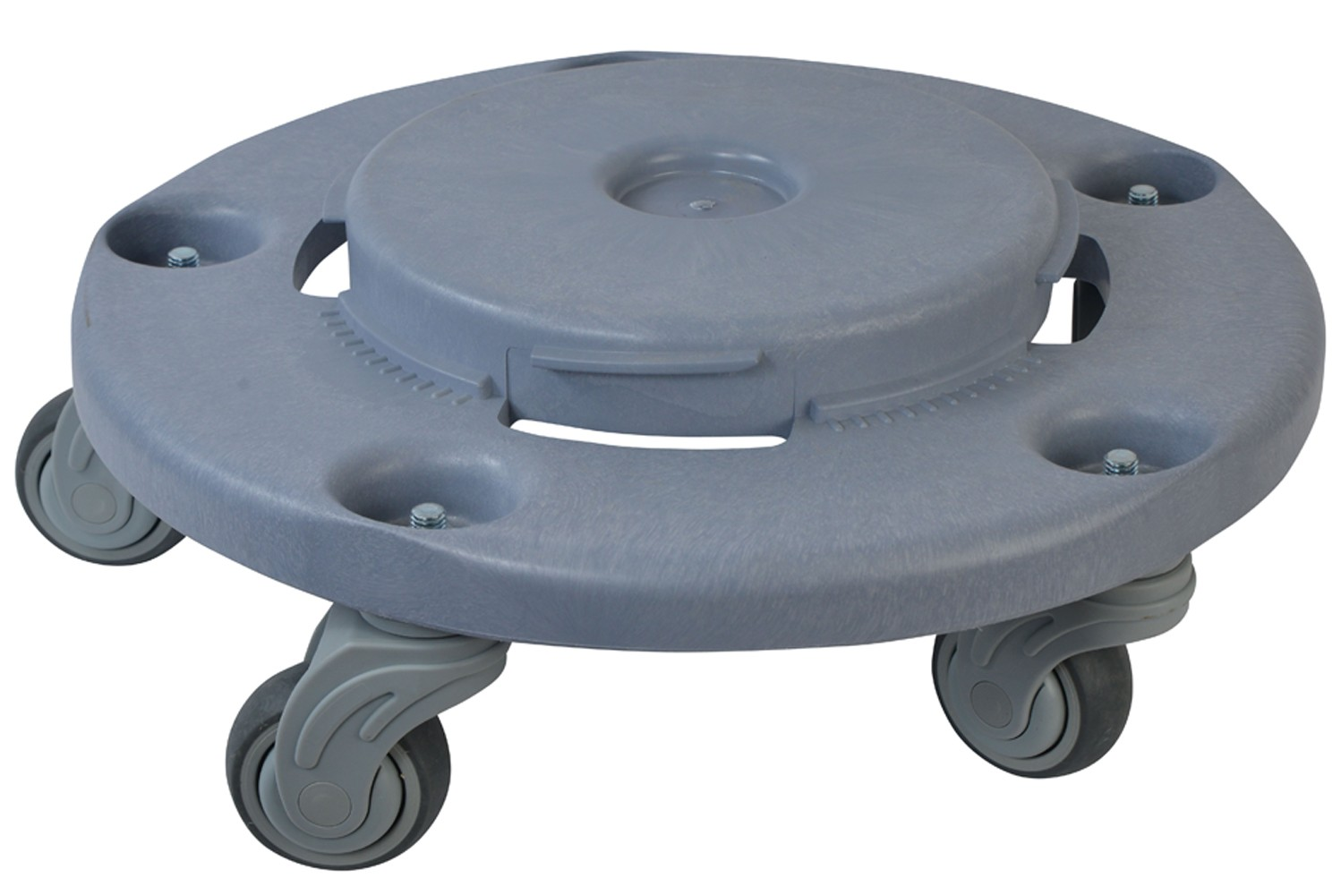 1041 Quiet Garbage Trash Can Round Dolly With Heavy Duty