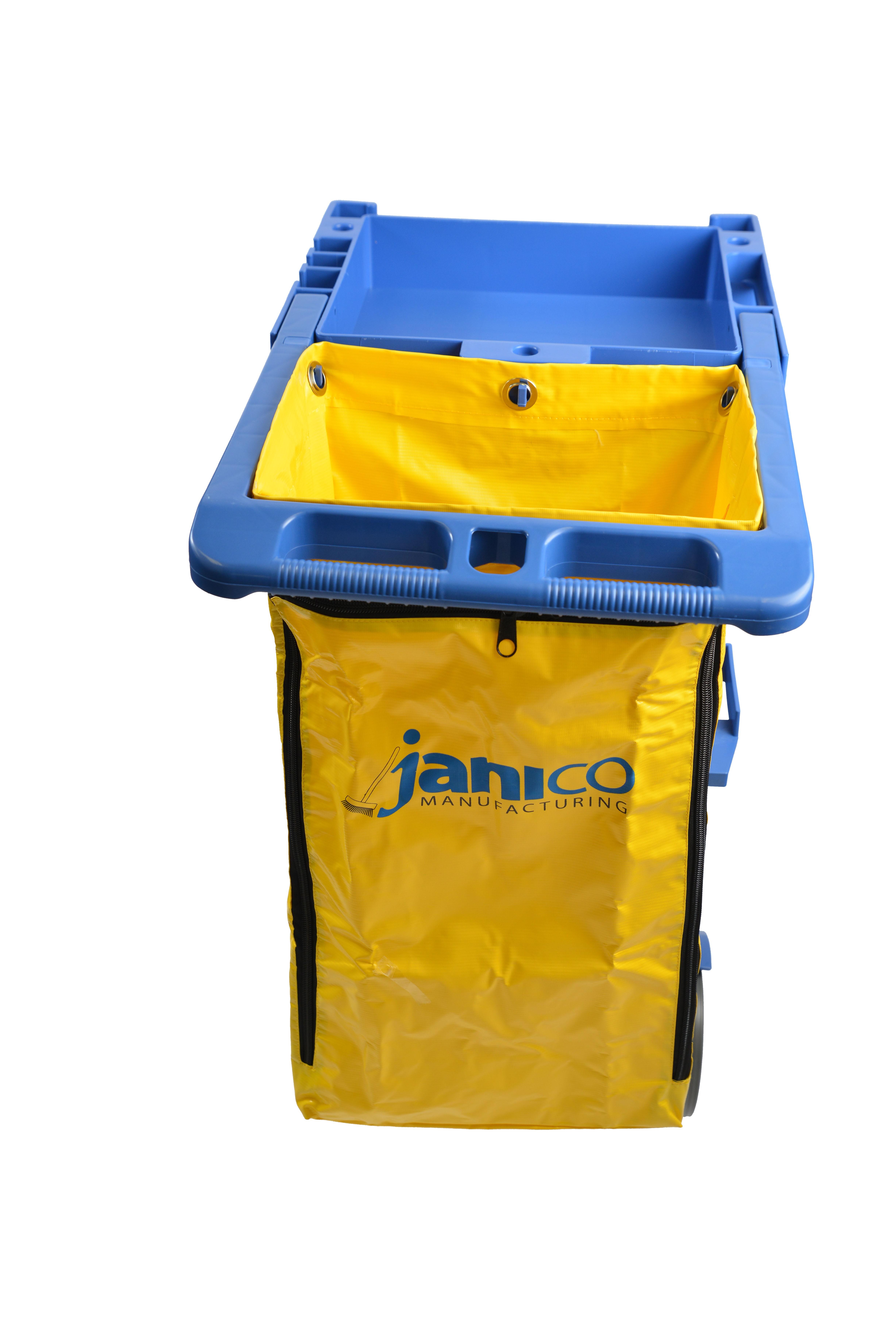 1050 02 Janitorial Cart Yellow Vinyl Bag 25 Gallon