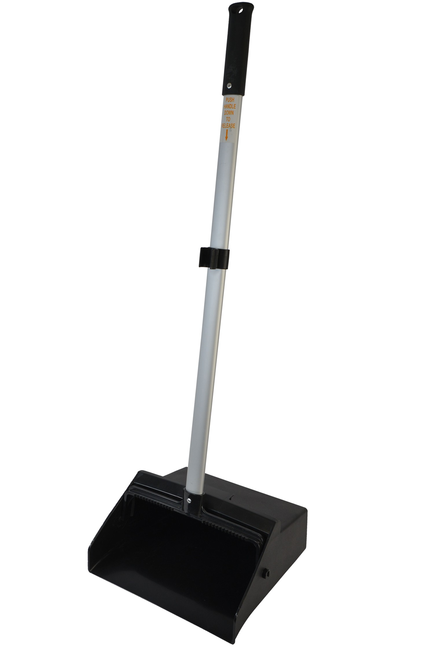 1085 Black Lobby Dust Pan With Aluminum Handle
