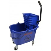 1010BL Mop Bucket With Side Press Wringer Combo 35 Quart Blue