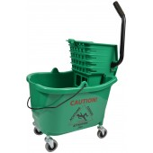 1010GN Mop Bucket With Side Press Wringer Combo 35 Quart Green