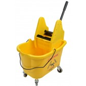 1012 35 Qt Yellow Mop Bucket With Down Press Wringer Combo