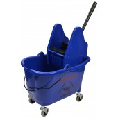 1012BL 35 Qt Blue Mop Bucket With Down Press Wringer Combo