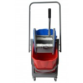 1014 Double Mop Bucket With Down Press Wringer Combo