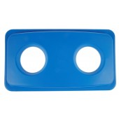 1023-05BL Blue Rectangular Garbage Can Lid