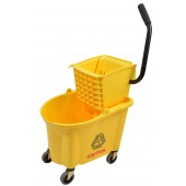 1026YW 26 Qt Yellow Mop Bucket With Side Press Wringer