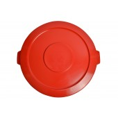 1032-02RD Red Round Container Lid for 32 Gallon Garbage Can