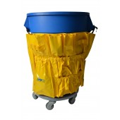 1033 Yellow Caddy Bag Fits 32 & 44 Gallon Round & Square Garbage Containers