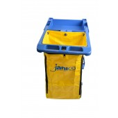 1050-02 Janitorial Cart Yellow Vinyl Bag 25 Gallon