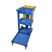 1050BL Janitor Housekeeping Utility Cart, Janitorial Cleaning Cart, Blue