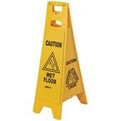 1074 Four Sided Wet Floor Sign