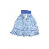 3041 Medium Blue Blended Cotton 5 Inch Wide Headband Looped End Mop Head