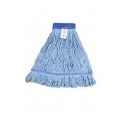 3042 Large Blue Blended Cotton 5 Inch Wide Headband Looped End Mop Head