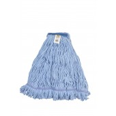3063 X-Large Blue Blended Cotton 1 Inch Narrow Headband Looped End Mop Head