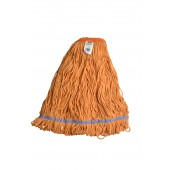 3262 Large Orange Blended Cotton 1 Inch Narrow Headband Looped End Mop Head