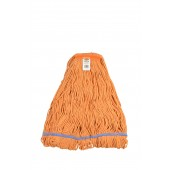 3263 X-Large Orange Blended Cotton 1 Inch Narrow Headband Looped End Mop Head