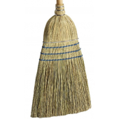 4045 Warehouse Corn Broom with 42 Inch Long Wood Handle