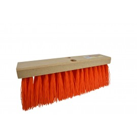 4016 16 Inch Street broom with 5.25 Inch Orange Poly Bristles