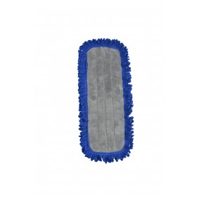 6318 5 Inch by 18 Inches Microfiber Fringed Dry Mop Pads with Velcro Backing