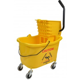 1010 Mop Bucket With Side Press Wringer Combo 35 Quart Yellow
