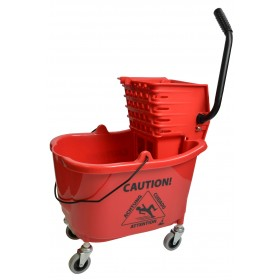 1010RD Mop Bucket With Side Press Wringer Combo 35 Quart Red