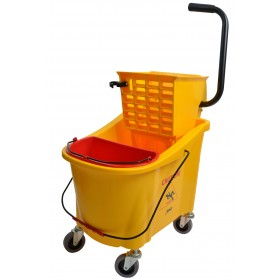 1036 36 Qt Yellow Mop Bucket With Side Press Wringer