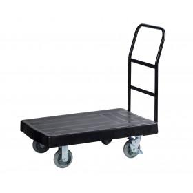 1058 Tall Platform Truck Cart, Stock Picking & Put Away Cart, Black