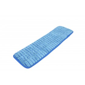 6213BL Blue Microfiber Scrubbing Looped Wet Mop Pads